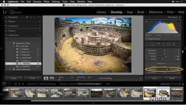 Finalizing the photo: Creating Panoramas with Lightroom