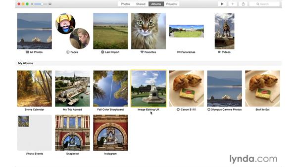 Using the exercise files: Up and Running with Photos for OS X