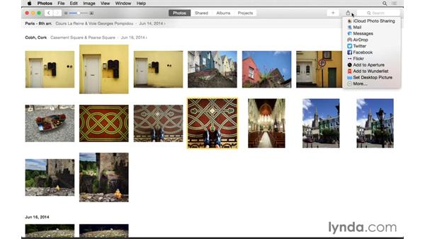 Touring the Photos interface: Up and Running with Photos for OS X