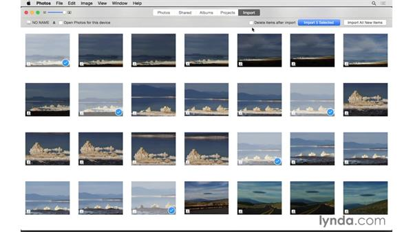 Adding pictures from your camera: Up and Running with Photos for OS X