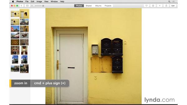 Navigating the Photos tab: Up and Running with Photos for OS X