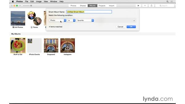 Creating Albums and Smart Albums: Up and Running with Photos for OS X
