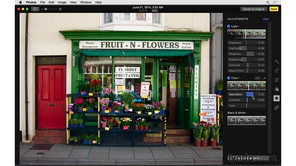 Exploring detailed adjustments: Up and Running with Photos for OS X