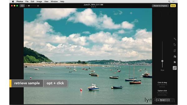 Retouching a photo: Up and Running with Photos for OS X