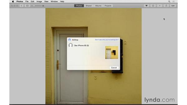 Moving photos to other devices using AirDrop: Up and Running with Photos for OS X