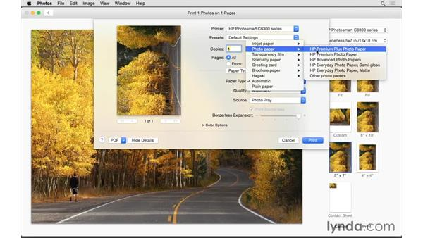 Making a print: Up and Running with Photos for OS X