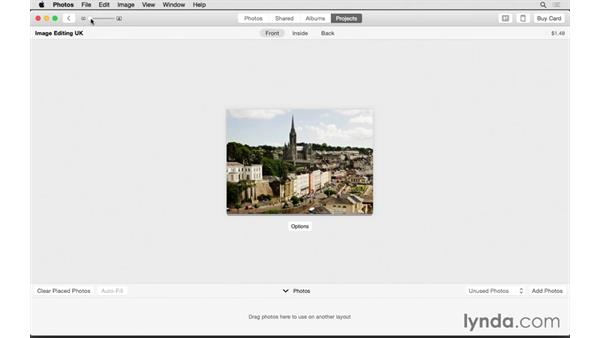 Designing a greeting card: Up and Running with Photos for OS X