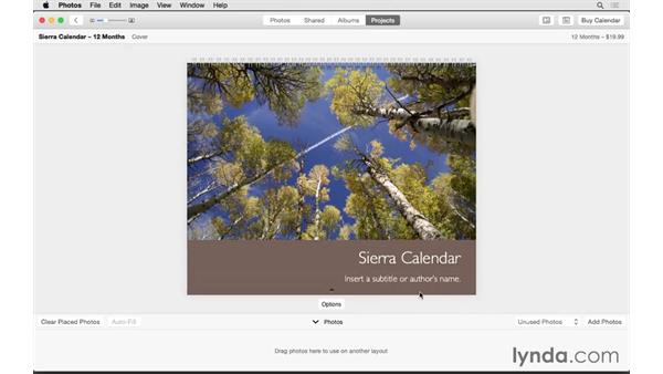 Creating a calendar: Up and Running with Photos for OS X
