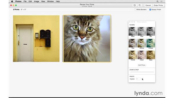 Ordering a print: Up and Running with Photos for OS X