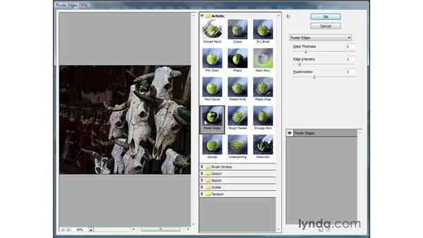 Applying filters: Photoshop Elements 7 for Windows Essential Training