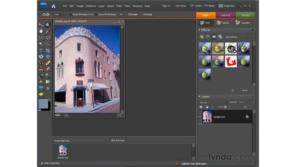 Applying effects: Photoshop Elements 7 for Windows Essential Training