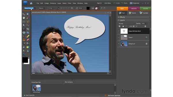 Editing text: Photoshop Elements 7 for Windows Essential Training
