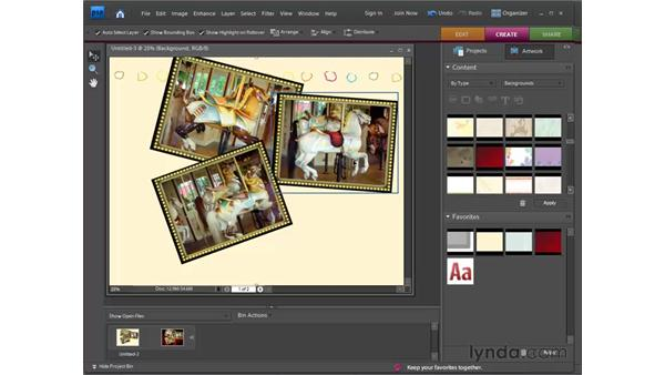 Making a photo collage: Photoshop Elements 7 for Windows Essential Training