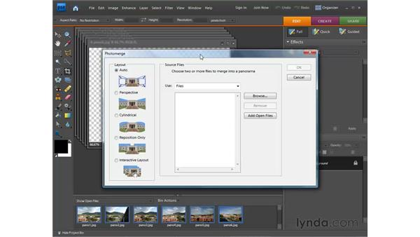 Making a panorama: Photoshop Elements 7 for Windows Essential Training