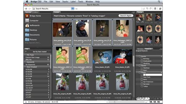 Adding keywords to images: Photoshop Elements 6 for Mac Essential Training