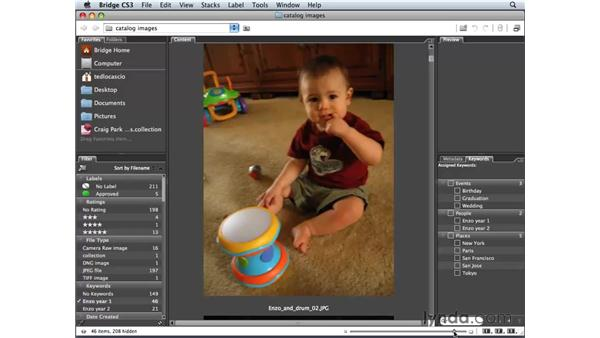 Hiding images: Photoshop Elements 6 for Mac Essential Training