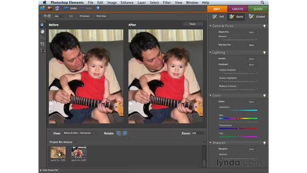 Applying Auto Red Eye Fix: Photoshop Elements 6 for Mac Essential Training