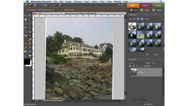 Using the Straighten and Crop tools: Photoshop Elements 6 for Mac Essential Training