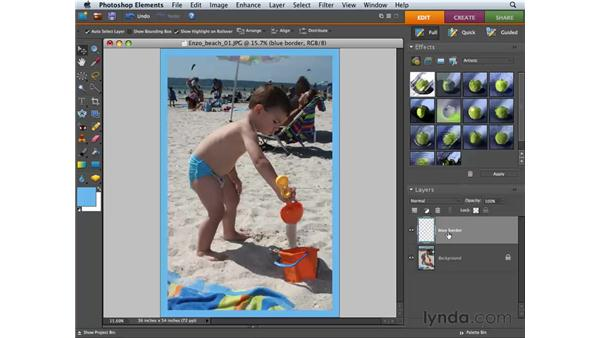 Working with the Layers palette: Photoshop Elements 6 for Mac Essential Training