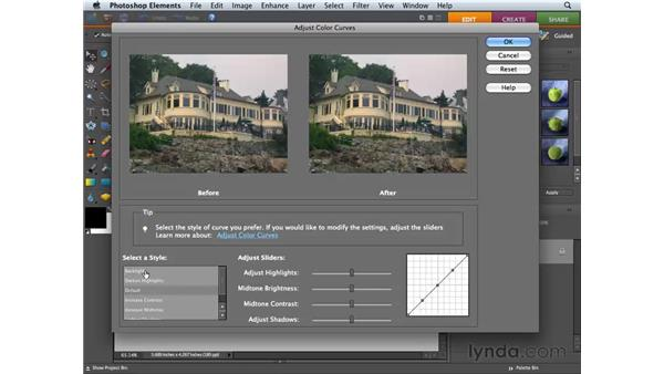 Improving images with Color Curves adjustments: Photoshop Elements 6 for Mac Essential Training