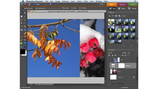Creating collages with gradient blending : Photoshop Elements 6 for Mac Essential Training