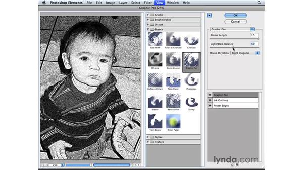 Creating a pencil sketch: Photoshop Elements 6 for Mac Essential Training