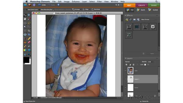 Customizing images: Photoshop Elements 6 for Mac Essential Training