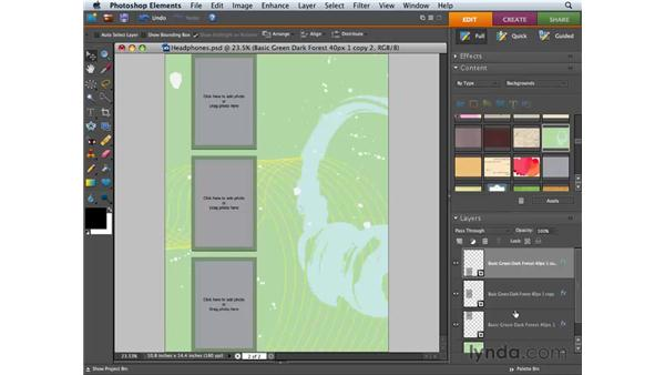 Building and saving a multi-page photo creation : Photoshop Elements 6 for Mac Essential Training