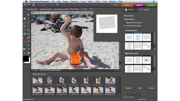 Creating a photo book: Photoshop Elements 6 for Mac Essential Training