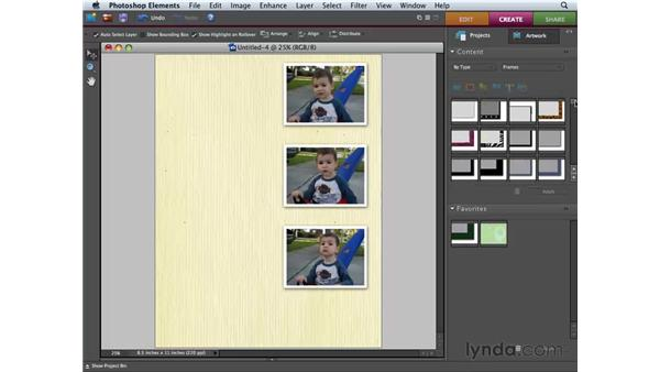 Creating a photo collage: Photoshop Elements 6 for Mac Essential Training