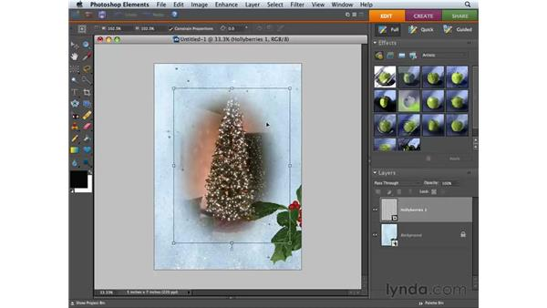Creating a greeting card: Photoshop Elements 6 for Mac Essential Training