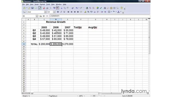 Quick and easy functions: OpenOffice.org 2 Calc Getting Started