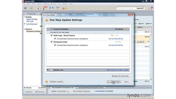 Using One Step Update: Quicken 2009 for Windows Essential Training