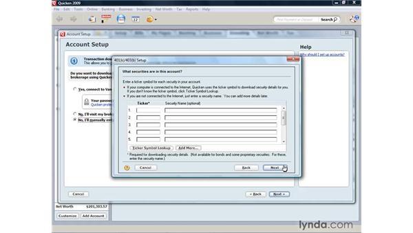 Adding a 401(k): Quicken 2009 for Windows Essential Training