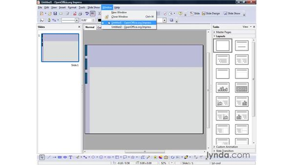 Creating a new presentation: OpenOffice.org 2 Impress Getting Started