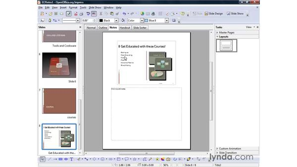 Changing views: OpenOffice.org 2 Impress Getting Started