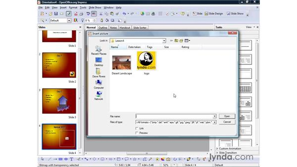 Inserting images: OpenOffice.org 2 Impress Getting Started