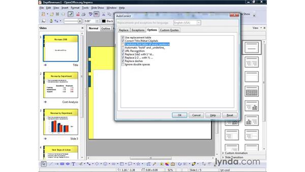 Proofing your presentation: OpenOffice.org 2 Impress Getting Started