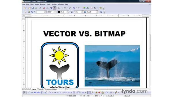 Vector vs. bitmap graphics: OpenOffice.org 2 Draw Getting Started
