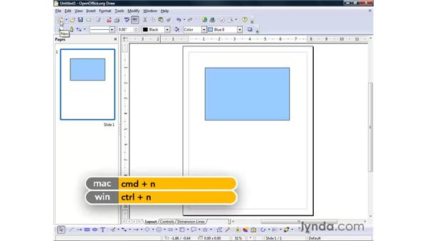 Creating a new drawing: OpenOffice.org 2 Draw Getting Started