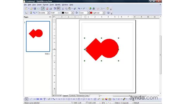 Combining, merging, subtracting, and intersecting with objects: OpenOffice.org 2 Draw Getting Started