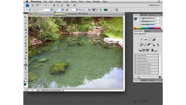 Using tools efficiently: Photoshop CS4 Essential Training