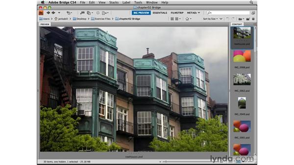 Opening images from Bridge: Photoshop CS4 Essential Training