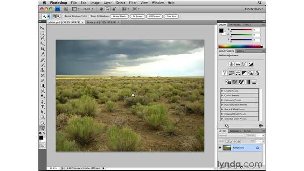 Zooming and panning: Photoshop CS4 Essential Training
