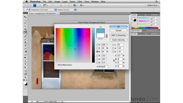 Choosing color: Photoshop CS4 Essential Training
