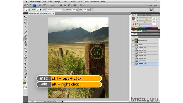 Undoing and the History panel: Photoshop CS4 Essential Training