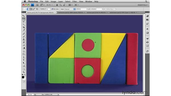 Making geometric selections: Photoshop CS4 Essential Training