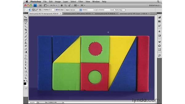 Modifying selections: Photoshop CS4 Essential Training