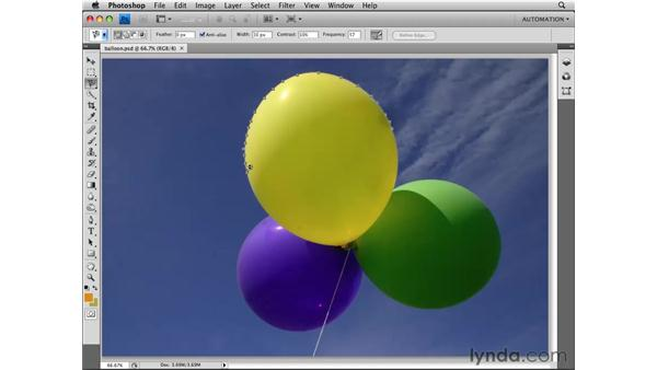 Selecting with the Magnetic Lasso tool: Photoshop CS4 Essential Training