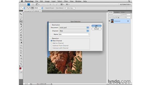 Saving selections: Photoshop CS4 Essential Training
